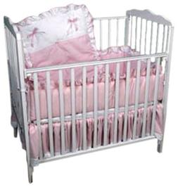 BabyDoll Royal Port-A-Crib Bedding Set Pink