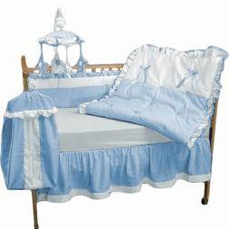 Baby Doll Bedding Regal Crib Bedding Set, Blue