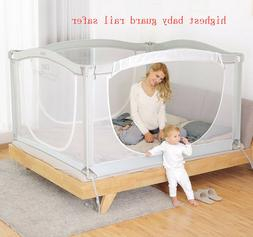 Baby Bed Fence Safety Gate child Barrier bed Crib Rail Secur