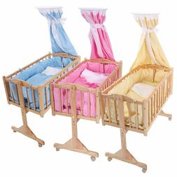 Baby  Lockable Cradle Rocking Baby Child Nursery Furniture