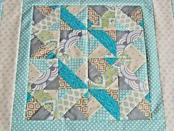 """Baby Quilt Top for Boy or Girl, 35"""" x 35"""", Toddler, Kids, Be"""