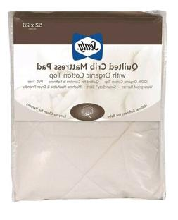 Sealy Baby Quilted Crib/Toddler Mattress Pad Cover with Orga