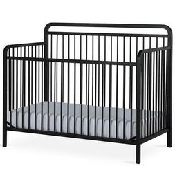 Baby Relax Juniper 4-in-1 Convertible Metal Crib in Matte Bl