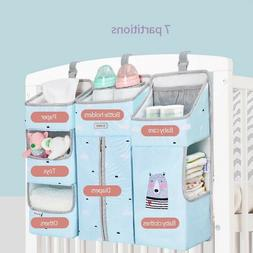 Sunveno Baby Storage Organizer Crib Hanging Bag Caddy Diaper