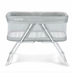 2in1 Rocking Bassinet One-Second Fold Travel Crib Portable N