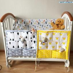 Bed Hanging Storage Bag Baby Cot Bed Brand Baby Cotton Cribs