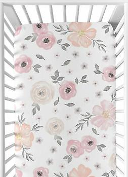 Sweet Jojo Designs Blush Pink, Grey and White Baby or Toddle