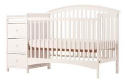 Stork Craft Bradford 4 in 1 Fixed Side Convertible Crib Chan