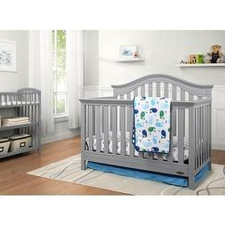 Graco Bryson 4-in-1 Convertible Crib, Pebble Gray New, **Mat