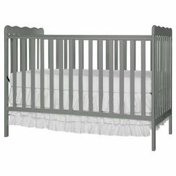 Dream On Me Carson Classic 3 in 1 Convertible Crib in Steel