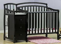 Casco 4 in 1 Mini Crib and Dressing Table Combo, Black