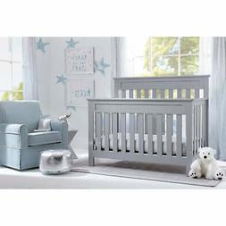 Delta Children Chalet 4-in-1 Convertible Crib, Grey