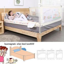Children Baby Bed Fence Safety Gate Barrier Crib Rail Securi