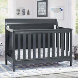 Delta Children New Haven 4-in-1 Convertible Crib - Charcoal