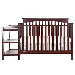 Dream On Me Chloe 5-in-1 Convertible Crib with Changer, Cher