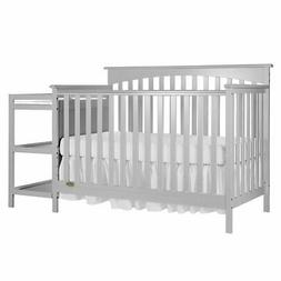 Dream On Me Chloe 5-in-1 Convertible Crib with Changer - Gre