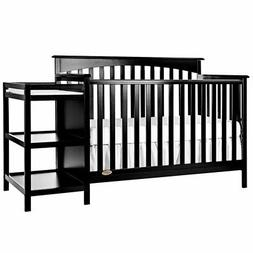 Chloe 5-in-1 Convertible 2 Piece Crib Set, Black