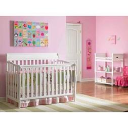 Classic Baby Crib Nursery Furniture Graco 4in1 Convertible F