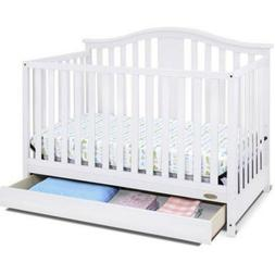 Convertible 4in1 Baby Crib with Drawer Home Child Bed Storag