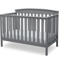 Convertible Baby Bed 4 in 1 Full Size Crib Gray Nursery Bedr