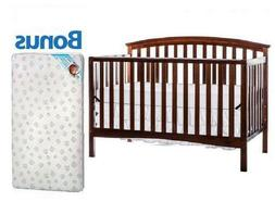 Convertible Baby Crib 5-in-1 With Bonus Mattress Eden Toddle