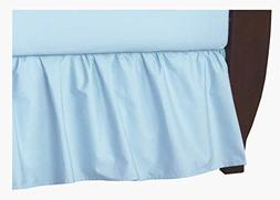 TL Care 100% Natural Cotton Percale Crib Bed Skirt, Blue, So