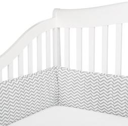 cotton percale crib bumper
