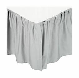 American Baby Company 100% Cotton Percale Crib Skirt, Gray,