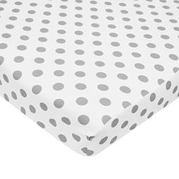 American Baby Company 100% Cotton Percale Fitted Portable/Mi