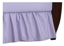 American Baby Company 100% Cotton Percale Ruffle Crib Skirt,