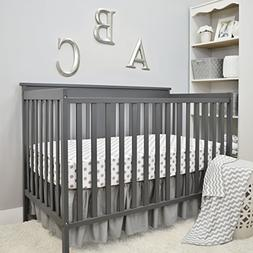 American Baby Company 3 Piece Crib Bedding Set, Grey, for Bo