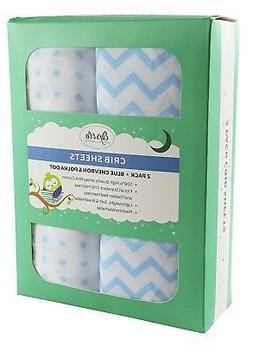 Fitted Crib Sheet Set | Toddler Sheet Set 2 Pack 100% Jersey