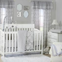 Damask Dot Grey and White Baby Crib Bedding - 20 Piece Nurse