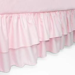 American Baby Company Double Layer Ruffled Crib Skirt, Blush