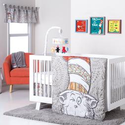 Trend Lab Dr. Seuss Peek-a-Boo Cat Baby Nursery Crib Bedding
