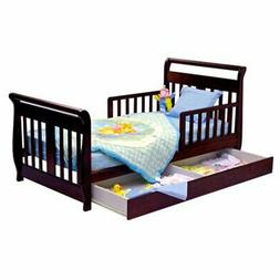 Dream On Me Sleigh Toddler Bed with Trundle