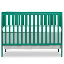 Dream On Me Synergy 5 in 1 Convertible Baby Crib Sky Emerald