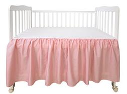 PHF Crib Bed Skirt 100% Cotton Pack of 2 Pink Dust Ruffle Nu
