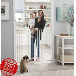 Easy Walk-Thru 34 Inches Extra Tall Metal Safety Baby Gate,