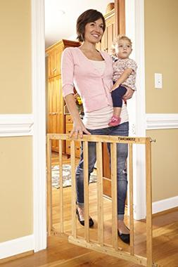Storkcraft Easy Walk-Thru Wooden Safety Gate, Natural Adjust