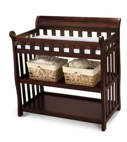 Delta Eclipse Changing Table, Black Cherry