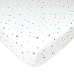 TL Care Fitted Crib Sheet for Standard Crib and Toddler Matt