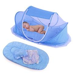 KooJoee Foldable Baby Travel Pop-up Bed Crib,Baby Infant Cra