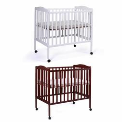 Foldable Cradle Pine Wood Baby Toddler Bed Nursery Infant Ne