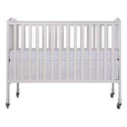 Folding Full Size Convenience Crib, White