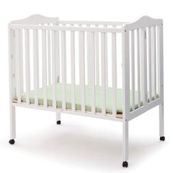 Delta Children Folding Portable Mini Baby Crib with 1.5-inch