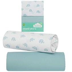 Cuddles & Cribs 2 Pack GOTS Certified Organic Cotton Fitted