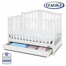 Graco Solano 4-in-1 Convertible Crib with Drawer in White