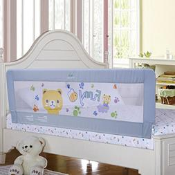 Gray Color Baby Bed Rail Extra Long Bed Guard Safety Bedrail