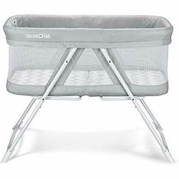 Gray : Rocking Bassinet One-Second Fold Travel Crib Portable